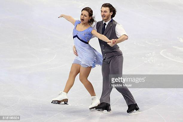 Kavita Lorenz and Panagiotis Polizoakis of Germany skate in the Ice Dance Short program during day 3 of the ISU World Figure Skating Championships...