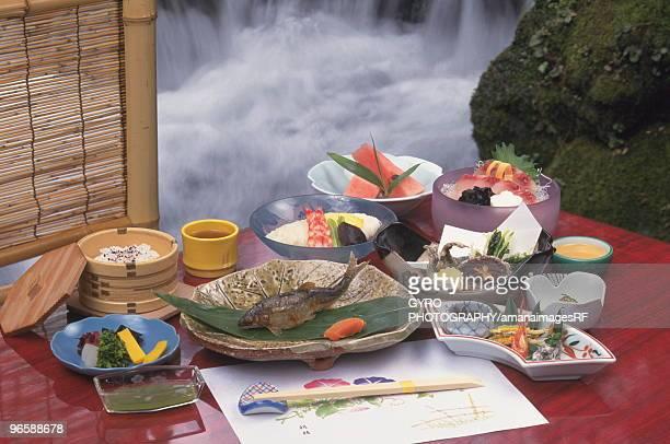 Kawadoko dining in Kyoto, Japan