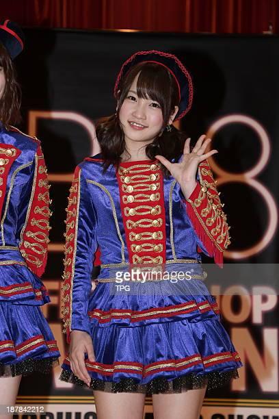 Kawaei Rina,member of Japanese AKB48,meets fans on Saturday November 9,2013 in Taipei,China.