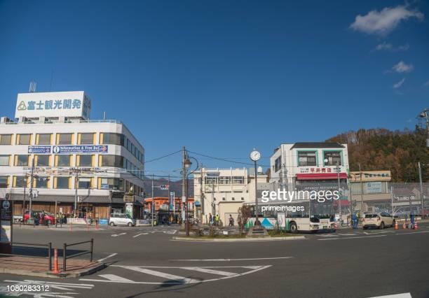 Kawaguchiko Station und öffentliche Verkehrsmittel in Kawaguchi Japan