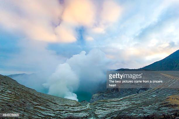 kawah ijen volcano - stratovolcano stock photos and pictures