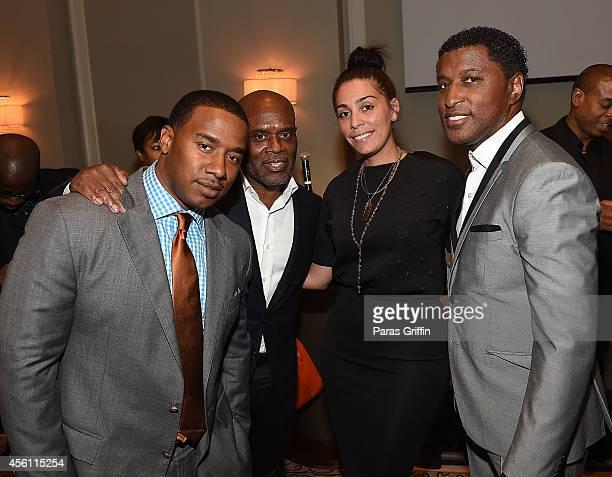 Kawan KP Prather Antonio LA Reid Jennifer Goicoechea and Kenneth Babyface Edmonds attend the ASCAP Rhythm And Soul 3rd Annual Atlanta Legends Dinner...