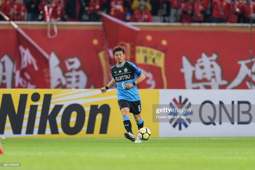 Kawasaki Midfielder Tasaka Yusuke in action during the AFC Champions League 2018 Group Stage F Match Day 5 between Shanghai SIPG and Kawasaki Frontale at Shanghai Stadium on 04 April 2018 in Shanghai, China.