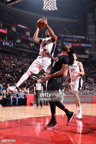 Kawhi Leonard of the San Antonio Spurs dunks against the Houston Rockets on December 15 2017 at the Toyota Center in Houston Texas NOTE TO USER User...
