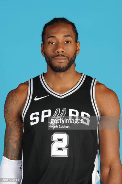 Kawhi Leonard of the San Antonio Spurs poses for a head shot during media day in San Antonio Texas at ATT Center on September 25 2017 NOTE TO USER...