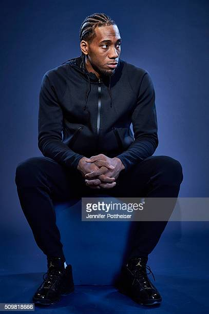 Kawhi Leonard of the San Antonio Spurs poses for a portrait during NBA AllStar Weekend on February 12 2016 at the Sheraton Centre in Toronto Ontario...