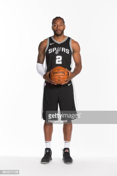 Kawhi Leonard of the San Antonio Spurs poses for a portrait during Media Day on September 25 2017 at ATT Center in San Antonio Texas NOTE TO USER...