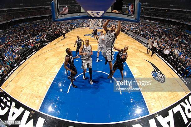 Kawhi Leonard of the San Antonio Spurs shoots the ball against the Orlando Magic during the game on November 29 2013 at Amway Center in Orlando...