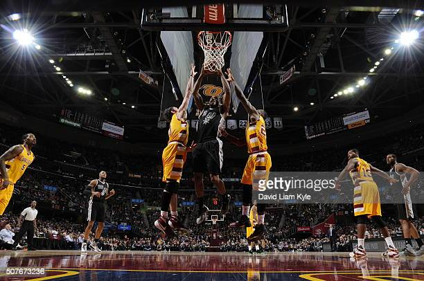 Kawhi Leonard of the San Antonio Spurs tb against the Cleveland Cavaliers on January 30 2016 at Quicken Loans Arena in Cleveland Ohio NOTE TO USER...
