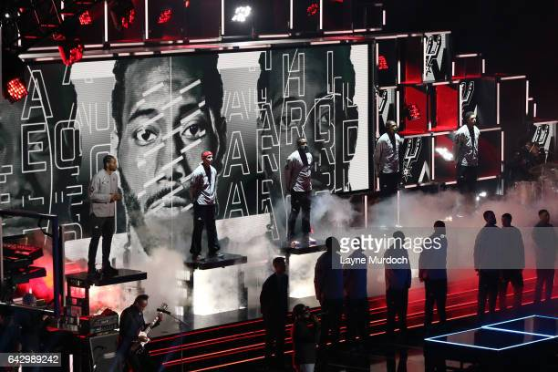 Kawhi Leonard of the Western Conference AllStar Team gets introduced during the NBA AllStar Game as part of the 2017 NBA All Star Weekend on February...