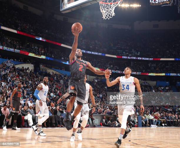 Kawhi Leonard of the Western Conference AllStars shoots during the NBA AllStar Game as part of the 2017 NBA All Star Weekend on February 19 2017 at...