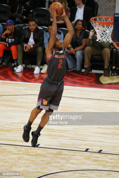 Kawhi Leonard of the Western Conference dunks during the NBA AllStar Game as part of the 2017 NBA All Star Weekend on February 19 2017 at the...