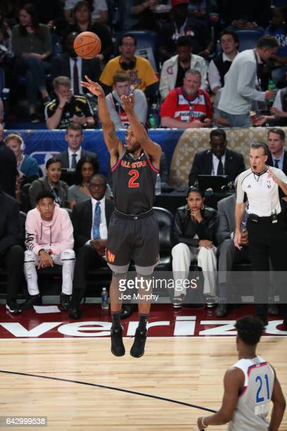 Kawhi Leonard of the Western Conference shoots during the NBA AllStar Game as a part of 2017 AllStar Weekend at the Smoothie King Center on February...