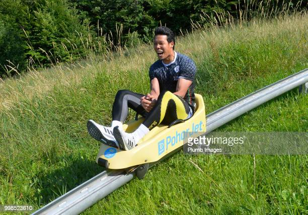 Kawin Thamsatchanan during team bonding activities during the OHL Leuven training session on July 09 2018 in Maribor Slovenia