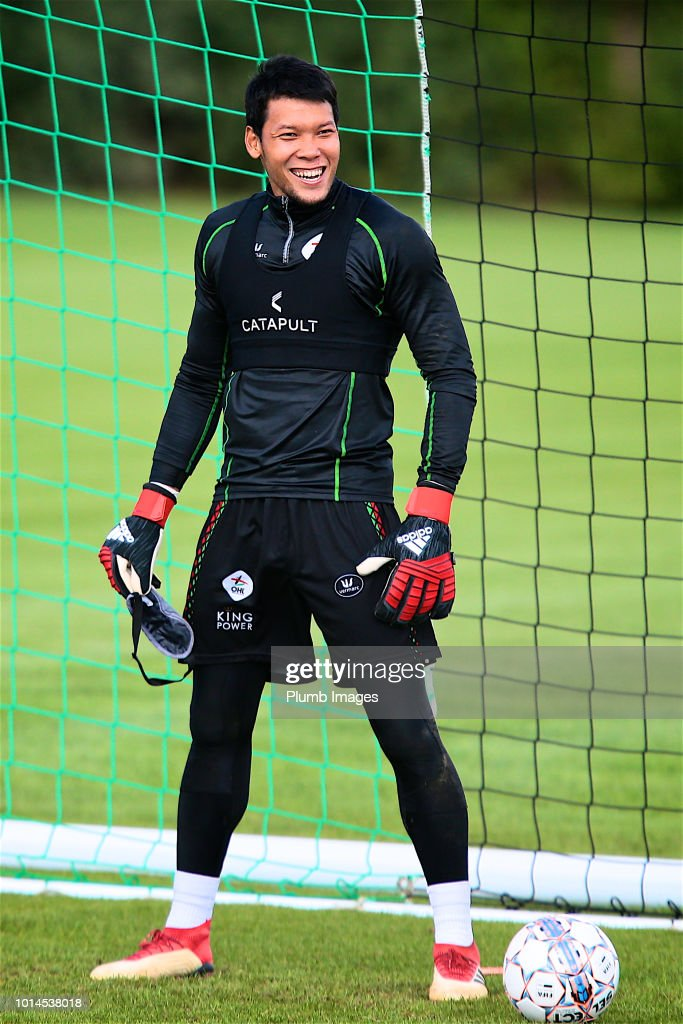 Kawin Thamsatchanan goalkeeper of OHL during the OHL training session on August 10th, 2018 in Leuven, Belgium.