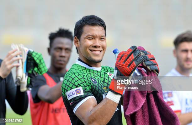 Kawin Thamsatchanan of OH Leuven applauds the travelling fans after the Proximus League match between Royal Union SaintGilloise and OH Leuven at...