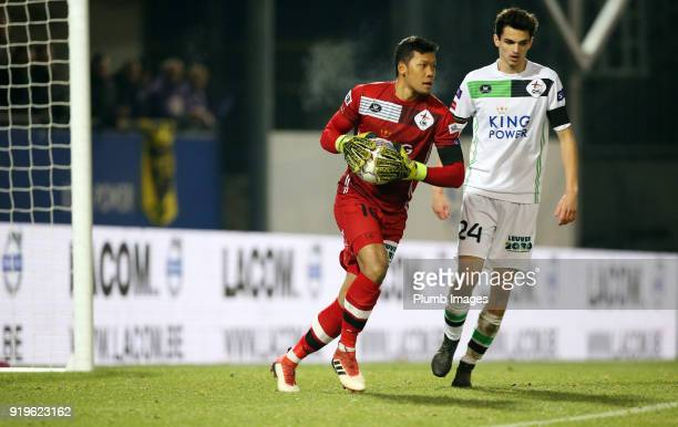 Kawin Thamsatchanan of OudHeverlee Leuven in action with Jarno Libert of OudHeverlee Leuven during the Proximus League match between OudHeverlee...
