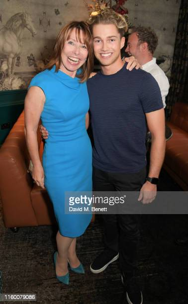 Kay Burley and AJ Pritchard attend a VIP performance of Magic Mike Live London at the Hippodrome Casino on August 6 2019 in London England