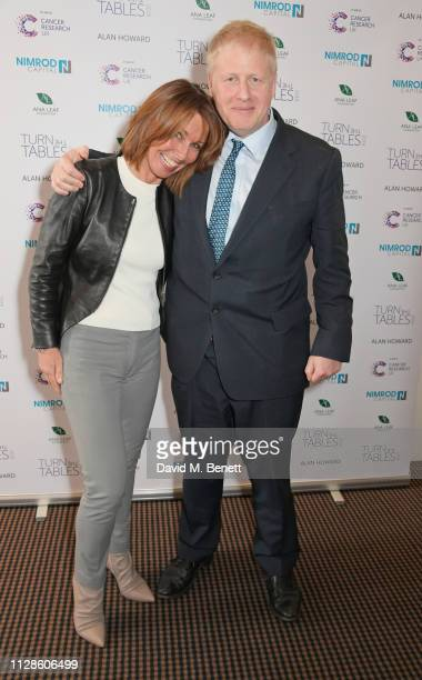 Kay Burley and Boris Johnson attend Turn The Tables 2019 hosted by Tania Bryer and James Landale in aid of Cancer Research UK at BAFTA on March 4...