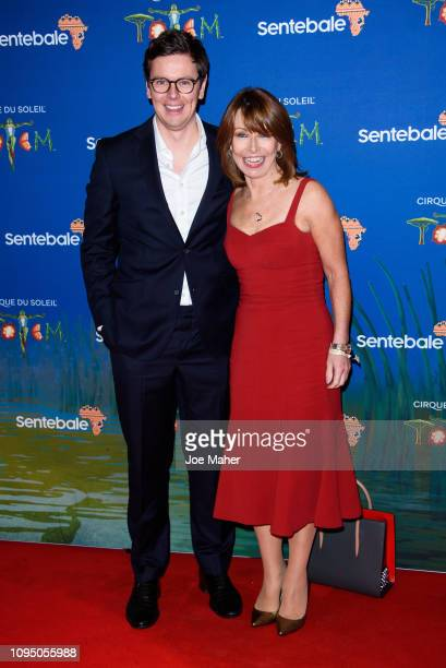 Kay Burley and Jonny Knowlson attend the Cirque du Soleil Premiere Of TOTEM at Royal Albert Hall on January 16 2019 in London England