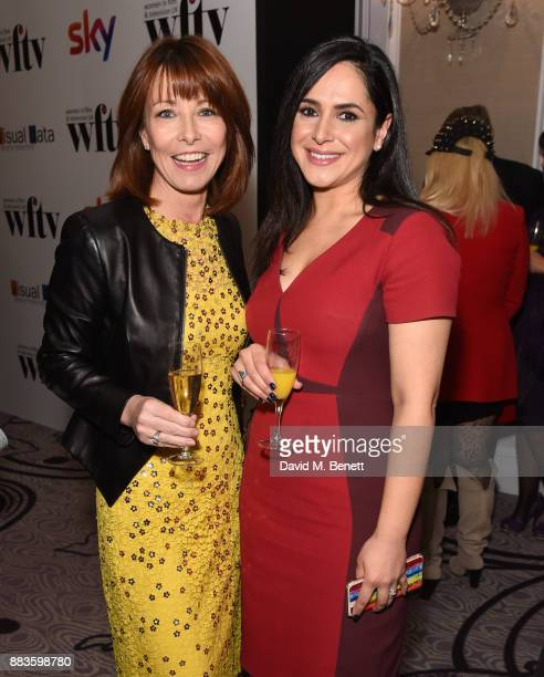 Kay Burley and Nazaneen Ghaffar attend the 'Sky Women In Film and TV Awards' held at London Hilton on December 1 2017 in London England