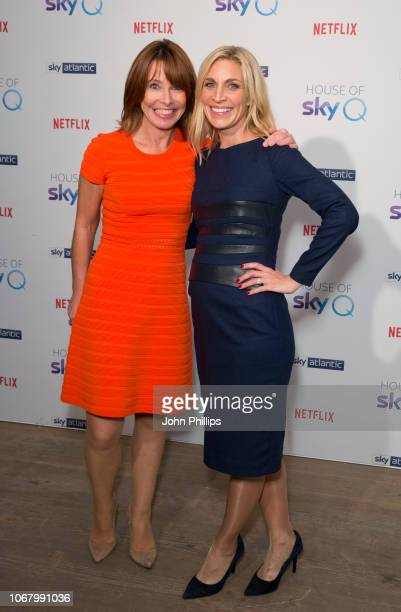 Kay Burley and Sarah Hewson attends the 'House of Sky Q' Launch at The Vinyl Factory on November 15 2018 in London England