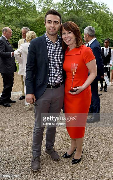 Kay Burley and son Alexander Kutner attend The Bell Pottinger Summer Party at Lancaster House on June 7 2016 in London England