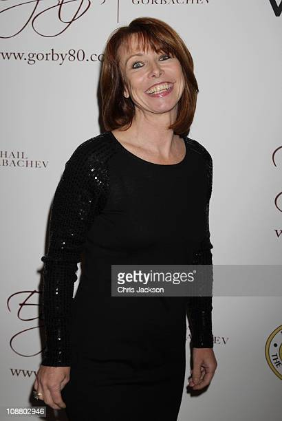 Kay Burley arrives at the Mikhail Gorbachev 80th Birthday Cocktail Party at Christies on February 3 2011 in London England