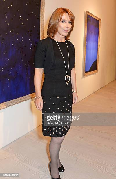 Kay Burley attends a private view of 'And The Stars Shine Down' by Stasha Palos at the Saatchi Gallery on December 2 2014 in London England