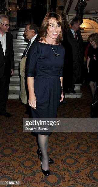 Kay Burley attends an after party following Press Night of 'Crazy For You' on October 17 2011 in London England