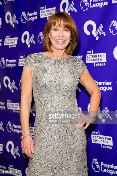 Kay Burley attends the Ultimate News Quiz drinks reception at Grand Connaught Rooms on March 20 2019 in London England This annual charity quiz is in...