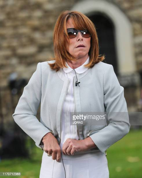 Kay Burley outside Parliament on August 28 2019 in London United Kingdom British Prime Minister Boris Johnson has written to Cabinet colleagues...