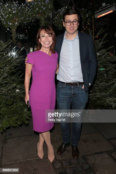 Kay Burley seen attending Piers Morgan Christmas party at Scarsdale Tavern on December 21 2017 in London England