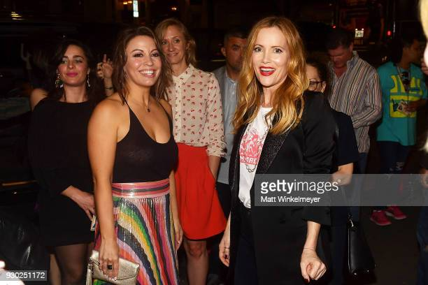 Kay Cannon and Leslie Mann attend the 'Blockers' Premiere 2018 SXSW Conference and Festivals at Paramount Theatre on March 10 2018 in Austin Texas