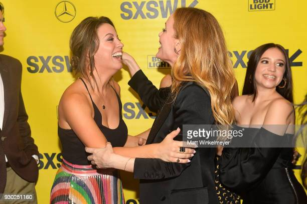 Kay Cannon and Leslie Mann attends the 'Blockers' Premiere 2018 SXSW Conference and Festivals at Paramount Theatre on March 10 2018 in Austin Texas