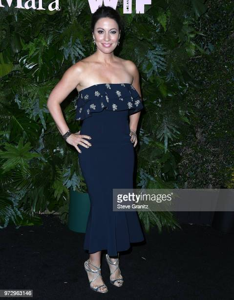 Kay Cannon arrives at the Max Mara WIF Face Of The Future at Chateau Marmont on June 12 2018 in Los Angeles California