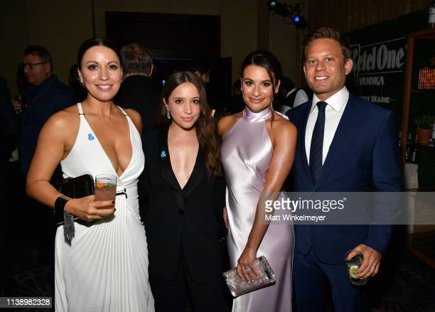 Kay Cannon Gideon Adlon Lea Michele and Zandy Reich attend the 30th Annual GLAAD Media Awards Los Angeles at The Beverly Hilton Hotel on March 28...