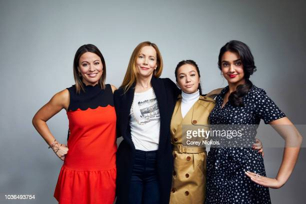 Kay Cannon Leslie Mann Gideon Adlon and Geraldine Viswanathan from the film 'Blockers' pose for a portrait in the Getty Images Portrait Studio...