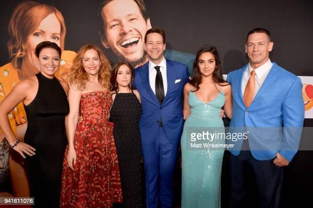 Kay Cannon Leslie Mann Gideon Adlon Ike Barinholtz Geraldine Viswanathan and John Cena attend the premiere of Universal Pictures' Blockers at Regency...