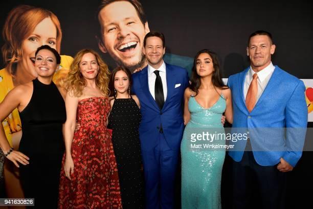 Kay Cannon Leslie Mann Gideon Adlon Ike Barinholtz Geraldine Viswanathan and John Cena attend the premiere of Universal Pictures' 'Blockers' at...