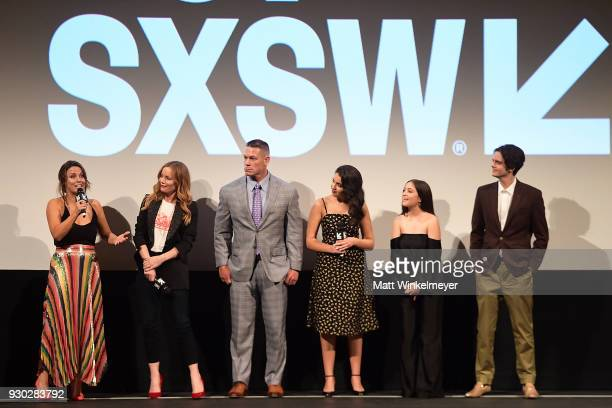 Kay Cannon Leslie Mann John Cena Geraldine Viswanathan Gideon Adlon and Miles Robbins attend the Blockers Premiere 2018 SXSW Conference and Festivals...