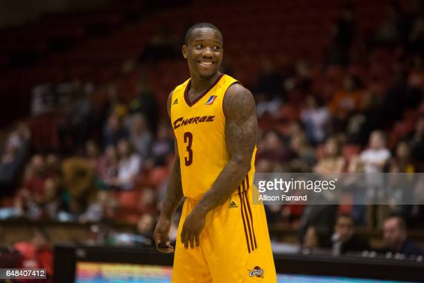 Kay Felder of the Canton Charge looks on during a game against the Westchester Knicks at the Canton Memorial Civic Center on March 5 2017 in Canton...