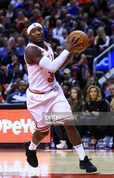 Kay Felder of the Chicago Bulls dribbles the ball during to the second half of an NBA game against the Toronto Raptors at Air Canada Centre on...