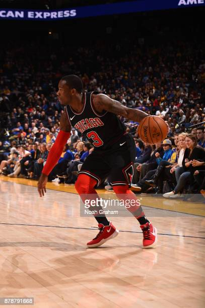 Kay Felder of the Chicago Bulls handles the ball against the Golden State Warriors on November 24 2017 at ORACLE Arena in Oakland California NOTE TO...