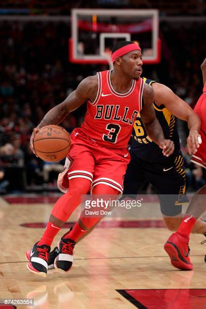 Kay Felder of the Chicago Bulls handles the ball against the Indiana Pacers on November 10 2017 at the United Center in Chicago Illinois NOTE TO USER...