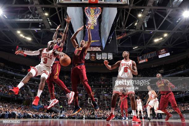 Kay Felder of the Chicago Bulls handles the ball against the Cleveland Cavaliers on October 24 2017 at Quicken Loans Arena in Cleveland Ohio NOTE TO...