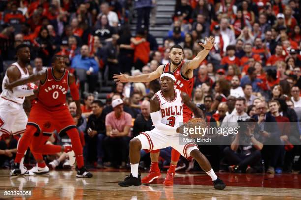 Kay Felder of the Chicago Bulls handles the ball against the Toronto Raptors during the game on October 19 2017 at the Air Canada Centre in Toronto...