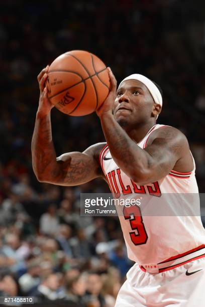 Kay Felder of the Chicago Bulls shoots the ball against the Toronto Raptors on November 7 2017 at the Air Canada Centre in Toronto Ontario Canada...