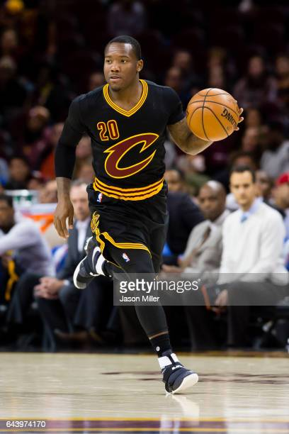 Kay Felder of the Cleveland Cavaliers drives down the court during the second half against the LA Clippers at Quicken Loans Arena on December 1 2016...