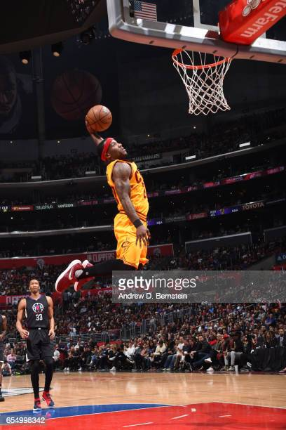 Kay Felder of the Cleveland Cavaliers dunks against the LA Clippers on March 18 2017 at STAPLES Center in Los Angeles California NOTE TO USER User...